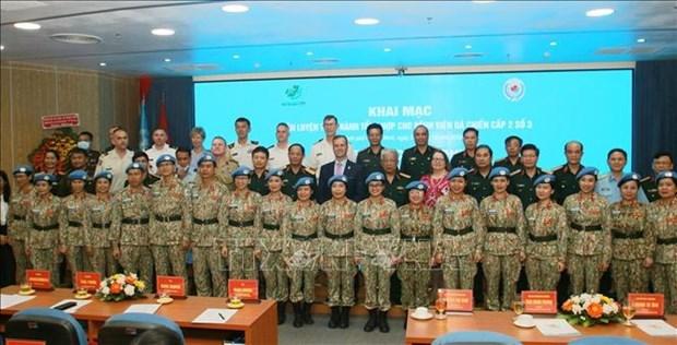 越南3号二级野战医院进入最后一次训练 hinh anh 2
