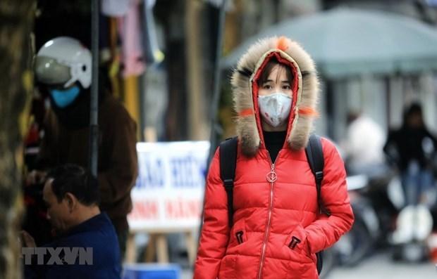 寒冷天气笼罩着北部和北中部 各地主动采取防寒措施 hinh anh 1