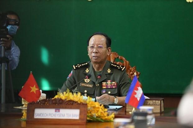 越南与柬埔寨签署2021年柬越防务合作计划 hinh anh 1
