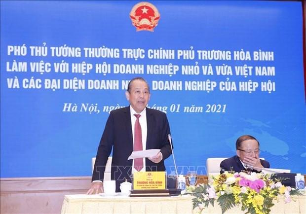 政府副总理张和平:企业和企业家在国家经济社会发展中具有重要位置 hinh anh 1