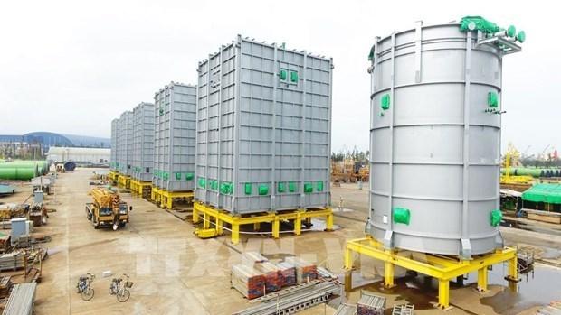 越南斗山重工业有限公司2021年向泰国出口首批炼油设备 hinh anh 1
