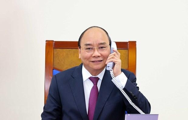 政府总理阮春福与澳大利亚总理斯科特·莫里森通电话 hinh anh 1