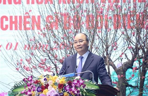 阮春福总理:边防部队全力以赴有效打击非法入境活动 hinh anh 1