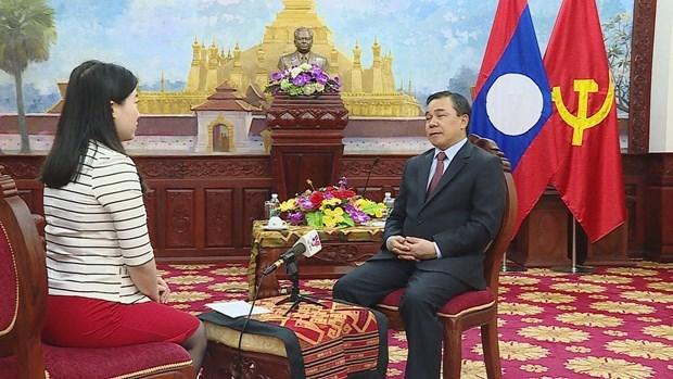 老挝驻越大使高度评价越共十三大的筹备工作 hinh anh 2
