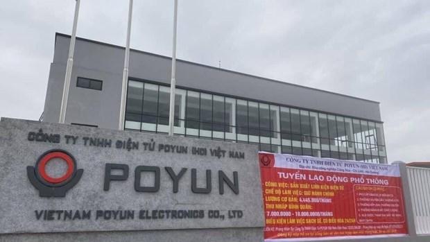 越南POYUN电子有限公司全体员工被送至集中隔离区 hinh anh 1