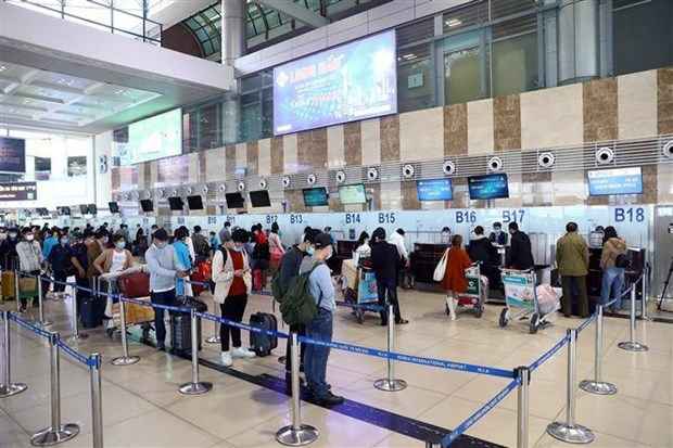 越南5大机场的全部员工的检测结果均呈阴性反应 hinh anh 1