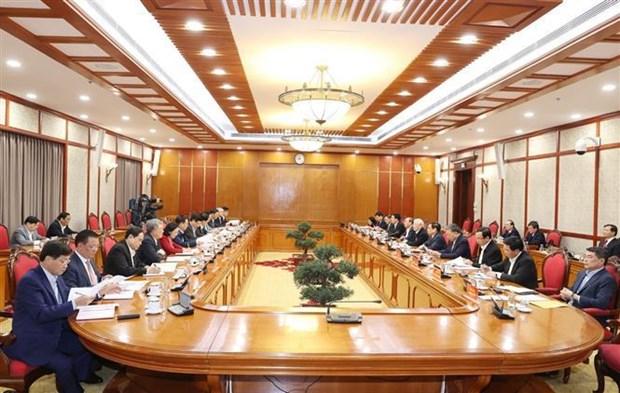 第十三届越共中央政治局召开第一次会议:聚焦国会代表选举和新冠疫苗购买接种工作 hinh anh 2