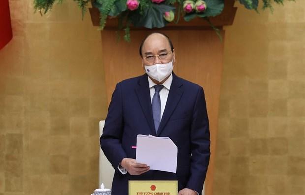 阮春福:各部委行业和地方政府要合力共为一道落实2021年任务 hinh anh 1
