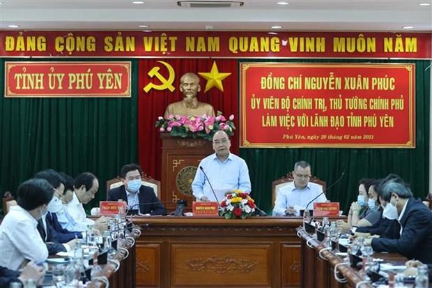 越南政府总理阮春福在富安省进行工作调研座谈 hinh anh 1