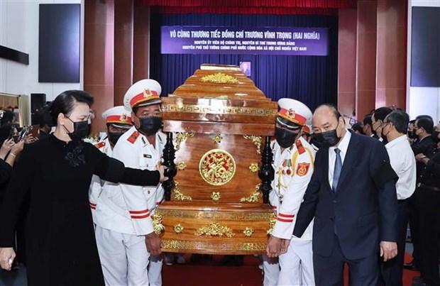 原政府副总理张永仲追悼会和安葬仪式在槟椥省举行 hinh anh 1