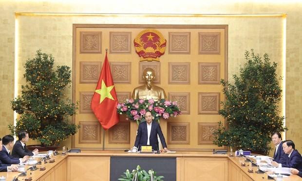 阮春福总理主持关于岘港市总体规划的会议 hinh anh 1