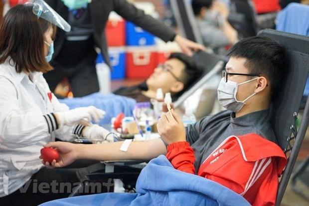 第十四次春红献血节开幕 预计采血量达4000单位 hinh anh 1