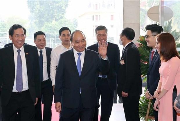 阮春福出席《人民报》创刊70周年纪念典礼 hinh anh 2