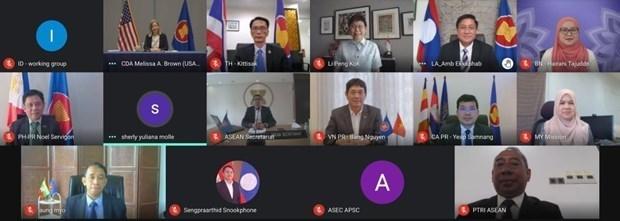 东盟-美国混合合作委员会召开第十二次会议 hinh anh 1