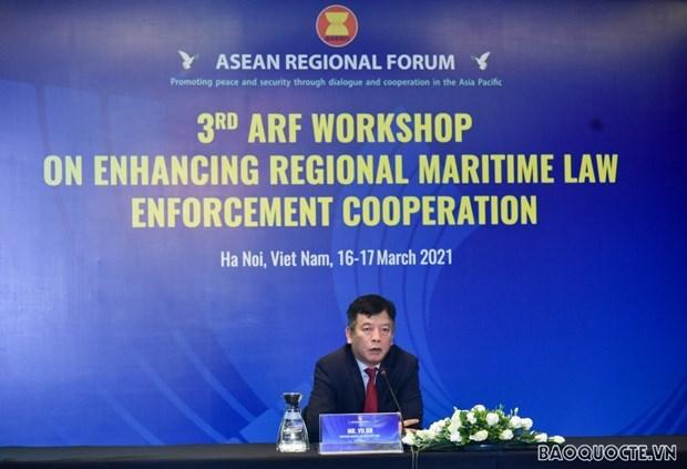 东盟地区论坛关于加强海上执法合作的第3次研讨会以线上线下形式举行 hinh anh 2