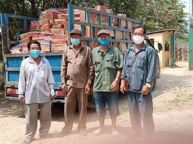 为受疫情影响的柬埔寨越南人提供粮食援助 hinh anh 1