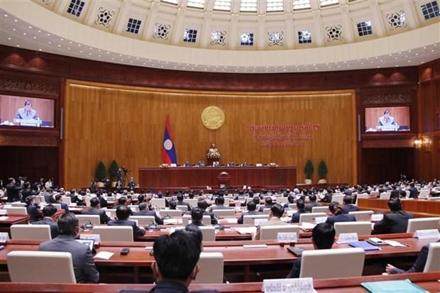 老挝第九届国会第一次会议在万象开幕 hinh anh 2