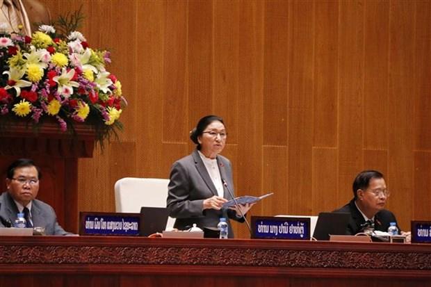 老挝第九届国会第一次会议在万象开幕 hinh anh 1