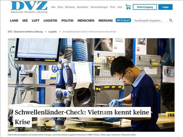德国媒体高度评价越南市场的前景 hinh anh 1