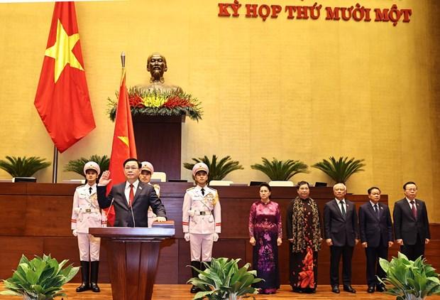越南国会主席王廷惠宣誓就职 hinh anh 1