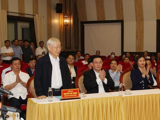 越共中央总书记、国家主席阮富仲:最重要的是人民的同心协力 hinh anh 1
