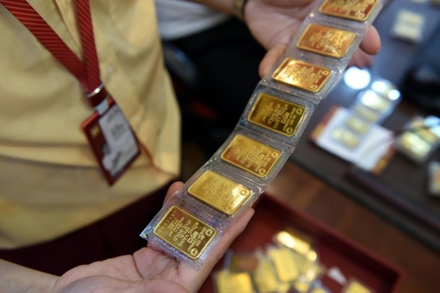 8日上午越南国内市场黄金价格每两上涨12万越盾 hinh anh 1