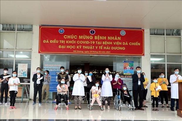 新冠肺炎疫情:海阳省只剩9名患者仍在接受治疗 hinh anh 1