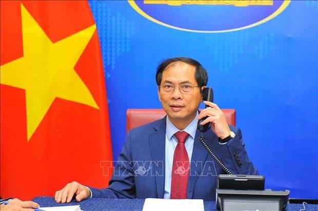 越南与文莱外交部长通电话 hinh anh 1