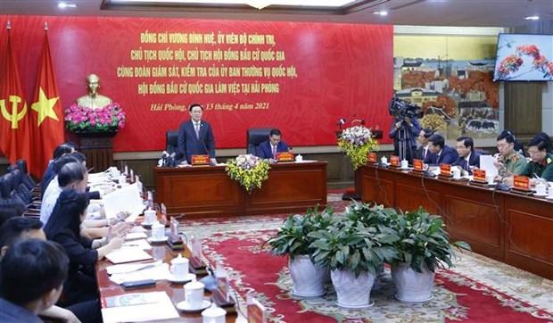 王廷惠:换届选举工作必须坚持民主公正客观 确保选出满足选民心愿的优秀代表 hinh anh 1