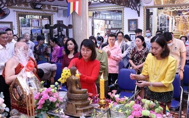 柬老缅泰等国传统新年庆祝活动在胡志明市举行 hinh anh 1