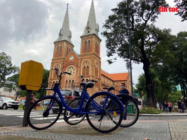 胡志明市将于2021年8月初开展公共自行车服务试点 hinh anh 1
