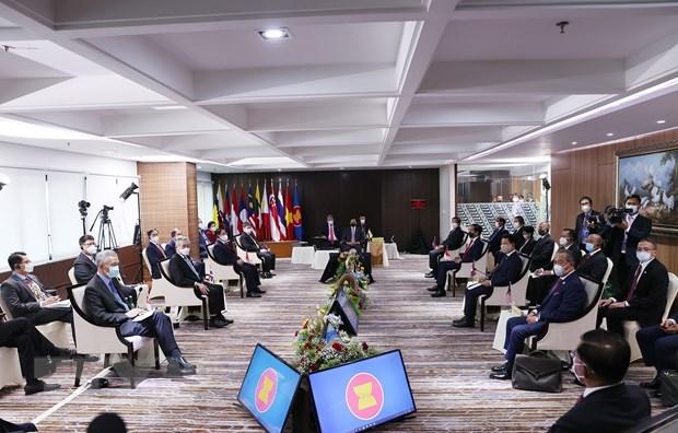 欧盟对东盟达成关于缅甸的5点共识表示欢迎 hinh anh 1