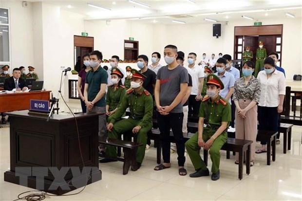 日强公司案今日开庭审理 14名被告出庭受审 hinh anh 1