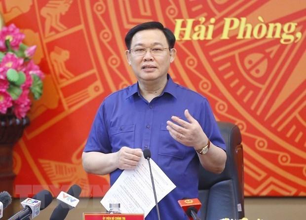 国会主席王廷惠:海防市要着力做好国会和各级人民议会换届选举工作 hinh anh 1