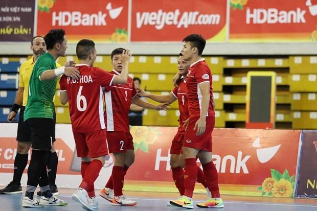 越南队将与黎巴嫩队角逐争夺2021年世界室内五人制足球锦标赛入场券 hinh anh 1