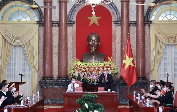 国家主席阮春福会见北江省少数民族代表 hinh anh 2