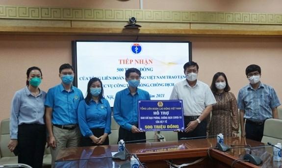 越南劳动总联合会提议将工人列入新冠疫苗优先接种名单 hinh anh 1