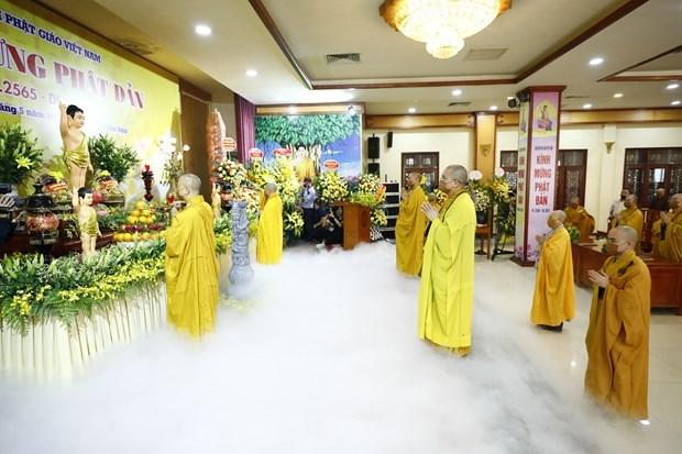越南佛教协会举行简短而庄严的佛历2565年佛诞大典 hinh anh 1