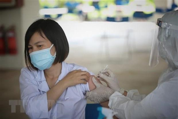 一日内新冠疫苗基金会共收到1600多亿越盾的援助资金 hinh anh 1