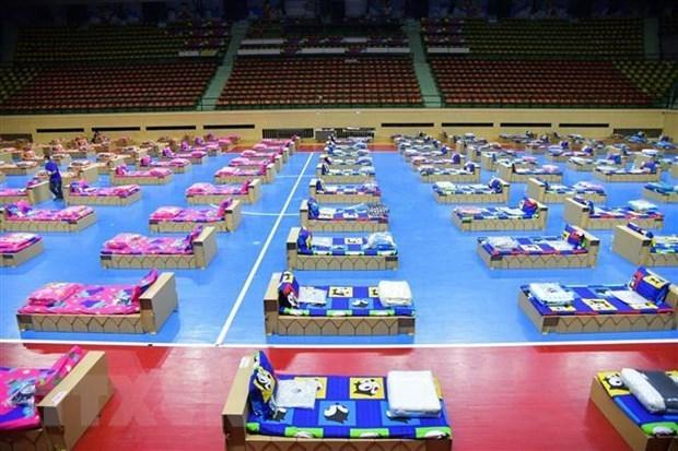 新冠肺炎疫情:泰国增加野战医院的病床 老挝监控入境者的行程 hinh anh 1
