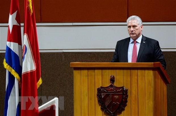 古巴国家主席迪亚斯·卡内尔感谢越南和国际友人对古巴的支援 hinh anh 1
