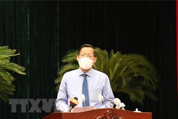 潘文买当选为2021-2026年胡志明市人民委员会主席 hinh anh 1