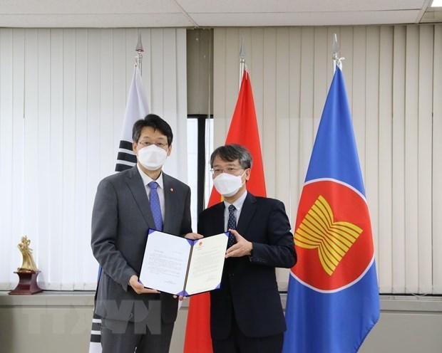 韩国向越南大叻市赠送5000套新冠病毒抗原快速检测试剂盒 hinh anh 1