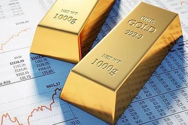 8月25日上午越南国内黄金价格每两下降5万越盾 hinh anh 1