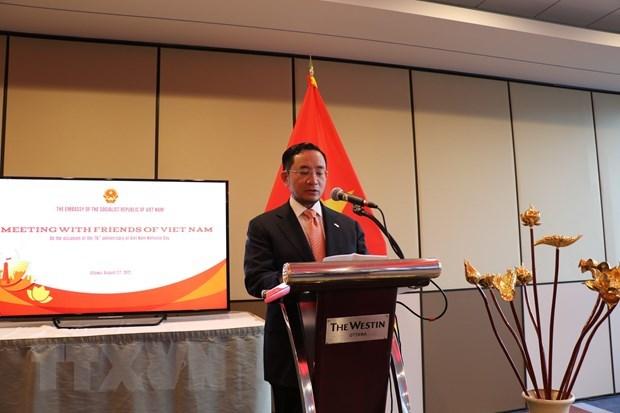越南驻加大使馆传播与全国携手抗疫的精神 hinh anh 1