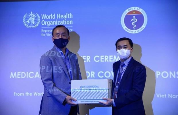 世卫组织向越南卫生部移交价值超过40万美元的医疗物资援助 hinh anh 1