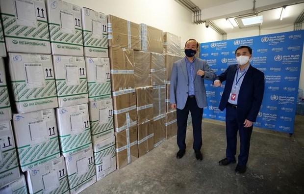 世卫组织向越南卫生部移交价值超过40万美元的医疗物资援助 hinh anh 2