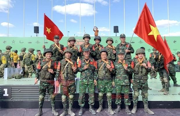 2021年国际军事比赛:越南人民军参赛队在各场比赛中表现出色 hinh anh 1