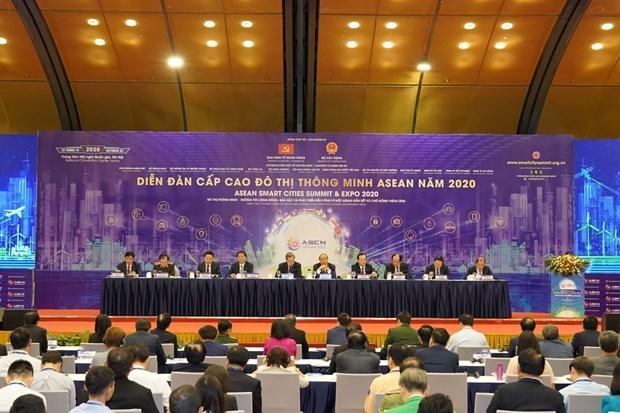 越南深化与东盟智慧城市网络内外部合作伙伴之间的合作 hinh anh 2