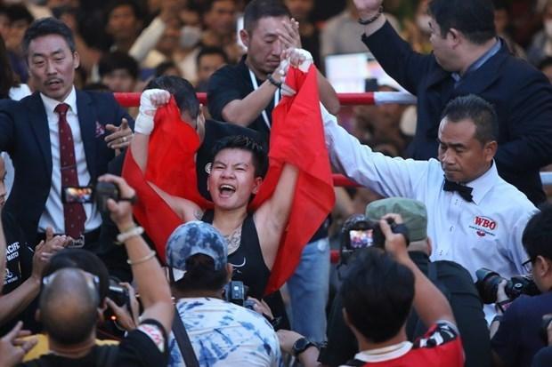 越南女拳手赴韩国争夺WBO世界金腰带 hinh anh 1